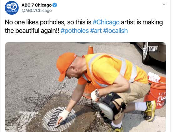 I Hate This Mosaic Artist So Much For Being A Good Guy And Fixing Chicago's Potholes