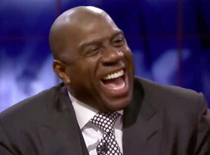 According To Magic Johnson The Pelicans Fired Dell Demps Because He Was Being A Petty Little Bitch And Wouldn't Give Him Anthony Davis