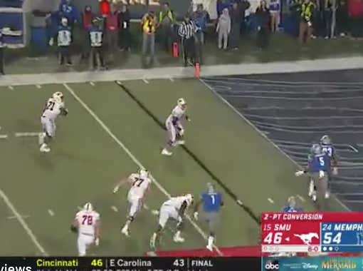 SMU Had One Of The Most Unnecessary 2-Point Conversions Ever....Unless You Had Them +6.5
