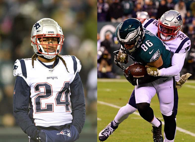 Stephon Gilmore Says Zach Ertz Cries a Lot and is Easy for Him to Cover
