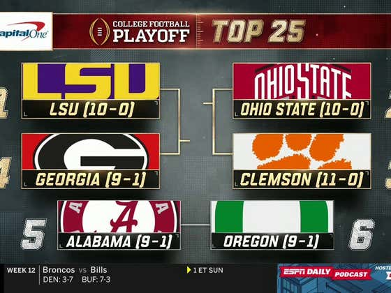 CFP Week 13 Rankings Revealed. LETS DEBATE.