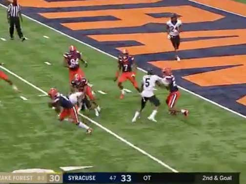 How Syracuse/Wake Forest Went Over Should Be Illegal