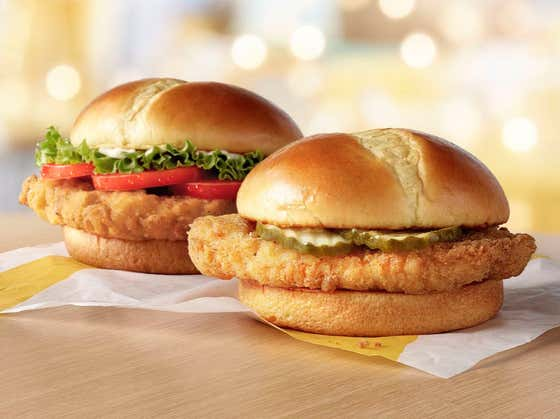 McDonald's Throws Its *Hat (*Visor) Into The Chicken Sandwich Battle Ring