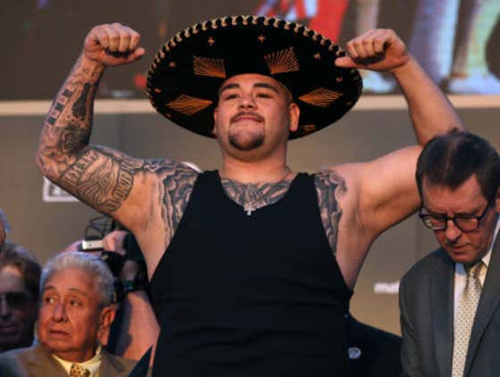 Chonk King Andy Ruiz Weighs In At 10 Year High Of 283lbs For Joshua Rematch