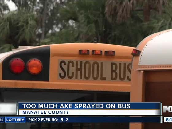 A School Bus Had To Be Evacuated After Someone Decided To Go A Little Too Heavy On The Axe Body Spray