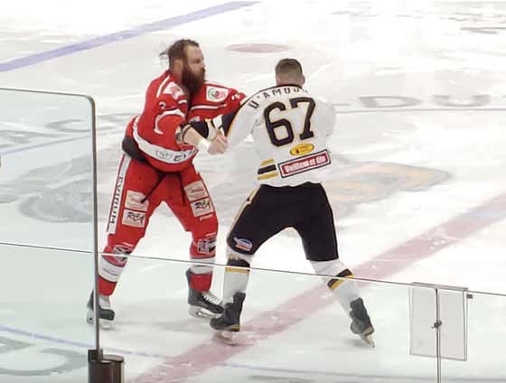 Hockey Game Starts Off With Four (4!!!) Straight Fights