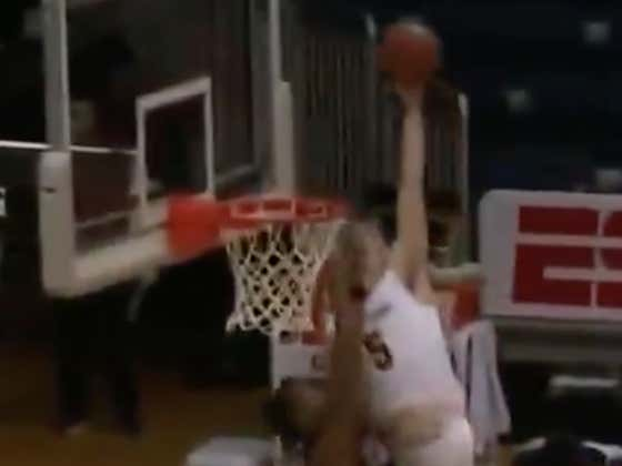 Division II College Kid Gets Dunked On So Hard His Own Teammates Started Clowning Him And Celebrating