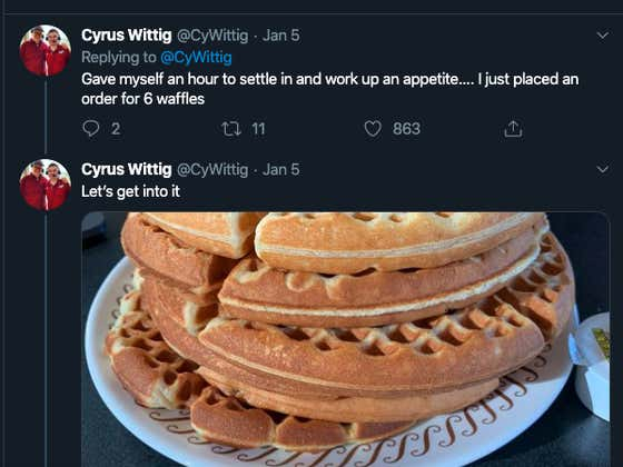 Dude Loses His Fantasy Football Bet And Has To Complete The Waffle House Challenge: What Is That? An Absolute Nightmare Like We've Never Seen