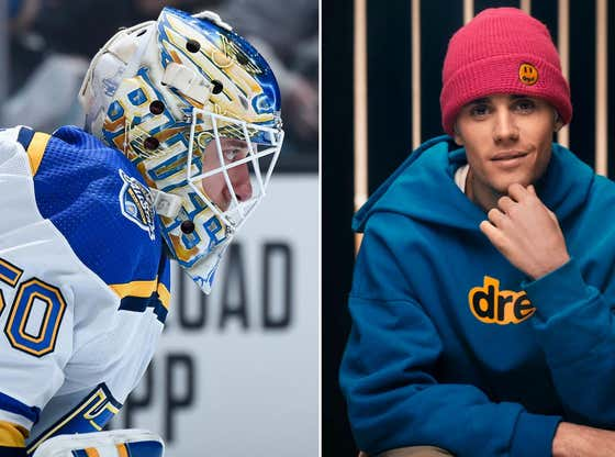 The Jordan Binnington vs Justin Bieber Goalie Challenge Is Officially On