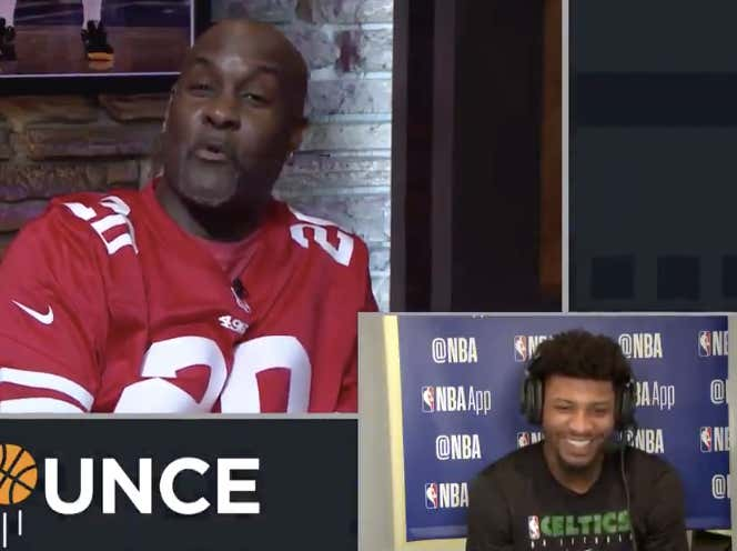 Marcus Smart Couldn't Contain Himself When Gary Payton Said The Were Basically The Same Player