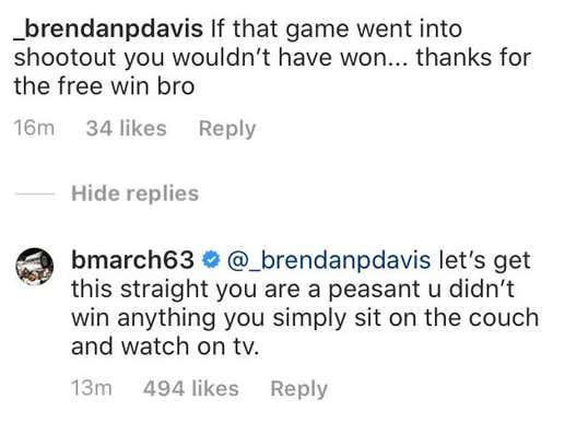 Brad Marchand Is Out Here Roasting People Online After His Failed Shootout Attempt