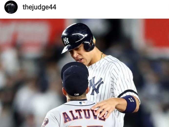 Petty Wars: Aaron Judge Deleted His Instagram Post Congratulating Jose Altuve On His 2017 MVP Award