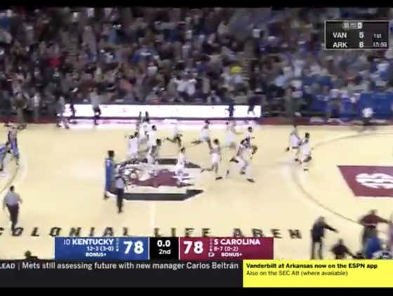 South Carolina (+220) hits the game winner to upset #10 Kentucky 81-78