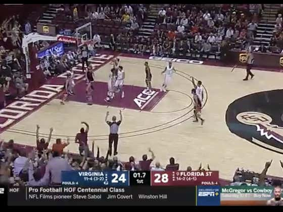 FSU hits a three before the buzzer to put the score over the 52.5 1H total