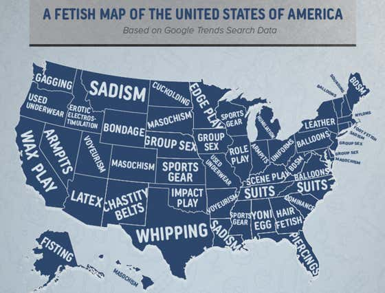 Do You Get Down With Your State's Most Popular Fetish?