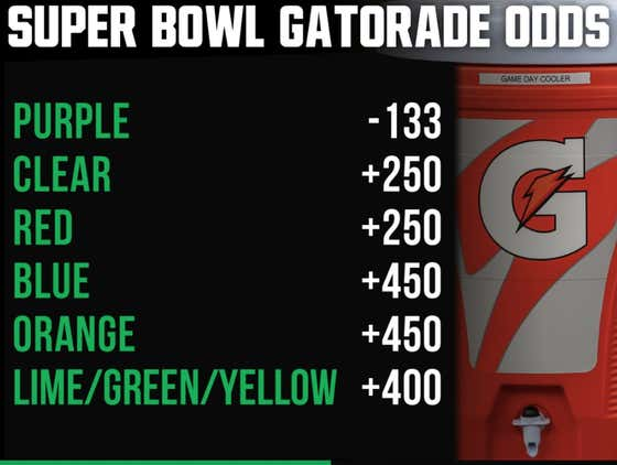 Purple Gatorade To Be Dumped On The Winning Coach Is The Hottest Super Bowl Bet Right Now