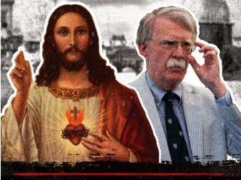 A Pastor Says That Jesus Could Kick John Bolton's Ass, Let's Go To The Tape