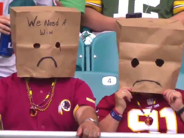 I Guarantee The Redskins Will Not Be The Worst Team In The NFL Next Year