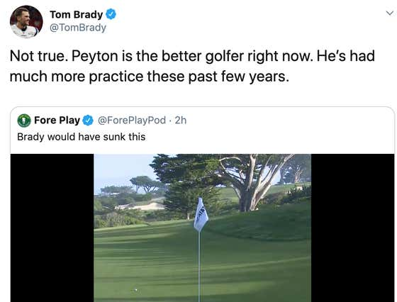 Tom Brady Used A Fore Play Tweet To Dunk On Peyton Manning