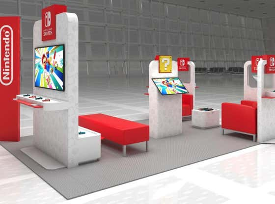 The Nintendo Switch Airport Lounges Are (Almost) Real And They Are Spectacular
