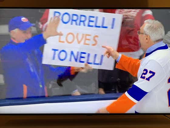 Borrelli Loves Tonelli! My Dad Had The Time Of His Life At The Islanders Game Tonight