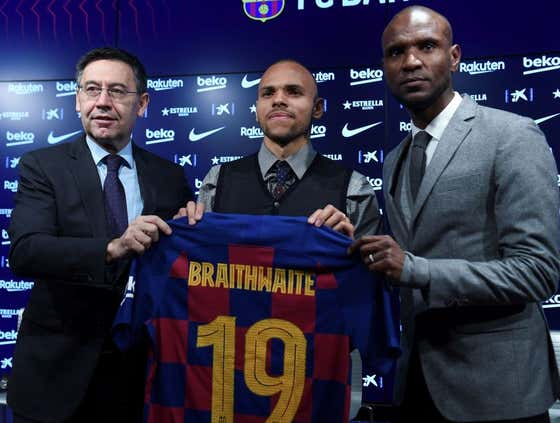 There Is No Possible Way Martin Braithwaite's Barcelona Unveiling Could Have Gone Worse
