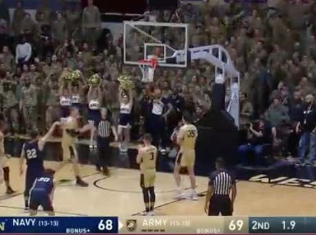 Navy (+135) misses a free throw with less than 2 seconds that would've won them the game. Instead they go to overtime tied at 69.