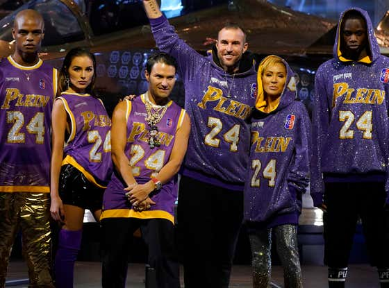 Fashion Week Designer Puts His Own Name On Bedazzled Kobe Jerseys, Has Models Strut Around Golden Helicopters