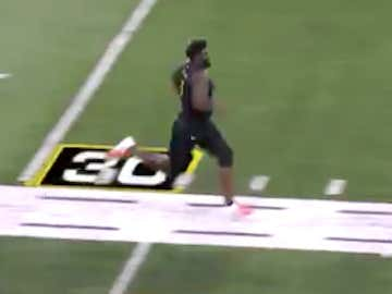 "Nothing To See Here, Just 6'7"", 364 lb. OT Mekhi Becton Running A 5.11 40"