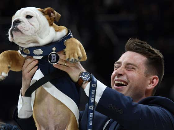 Butler Celebrates The 'Changing Of The Collar' Officially To Blue IV In The Best Ceremony You Could Imagine