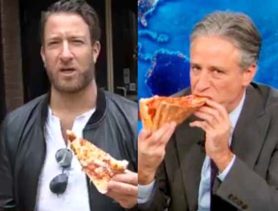 Jon Stewart Puts Out A Pizza Review Challenge To David Portnoy... Who Will Accept Under ONE Condition, Everybody Knows The Rules