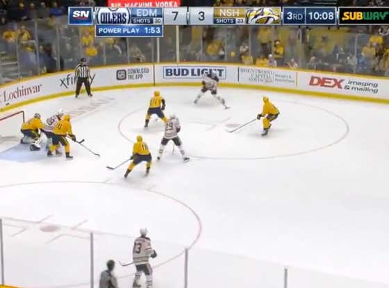 Oilers (+125) score 5 unanswered goals in the third period to take a 8-3 lead over the Preds