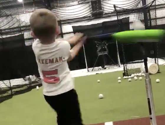 Freddie Freeman's 3-Year-Old Son Has a Better Swing Than Most Minor Leaguers