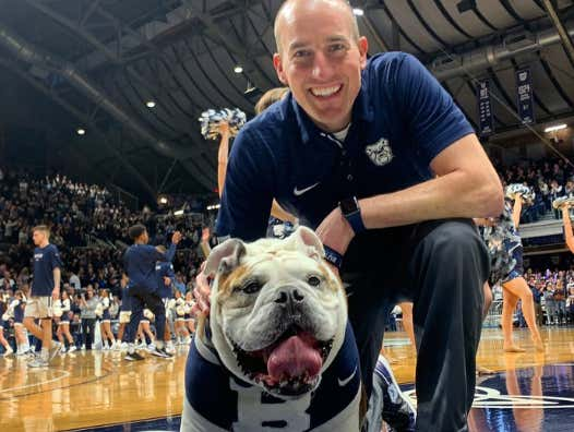 Butler Fans Making Blue III's(The Good Boy Mascot) Handler Cry By Chanting For Them During Their Last Game Is Why College Sports Are The Goddamn Best