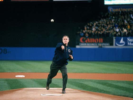 Wake Up With President George W. Bush's Perfect Strike Before Game 3 Of The 2001 World Series