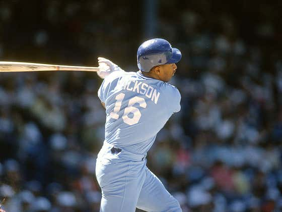 Wake Up With Bo Jackson Breaking A Bat Over His Head Like It's A Damn Toothpick