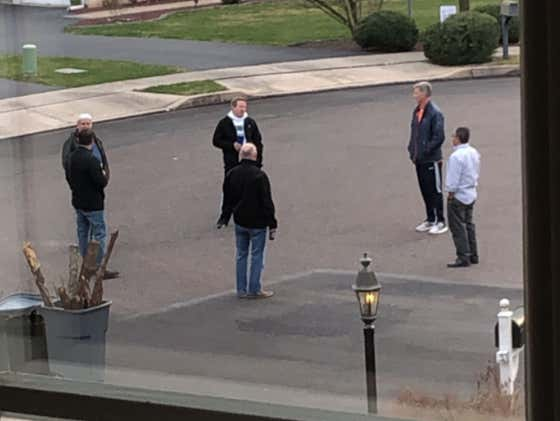 Neighborhood Dads Get Together For Social Distancing Beers With The Boys