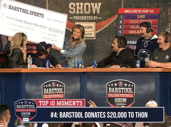 CFB Top 10 Moments: Barstool Donates $20K To Charity
