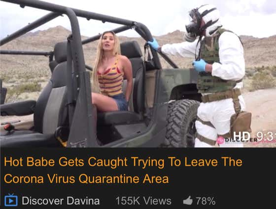 NSFW: Roundup Of This Week's Top 5 Worst Coronavirus Videos On PornHub