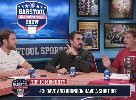 "CFB Top 10 Moments: Dave and Brandon Have An All-Time ""Shirt-Off"""