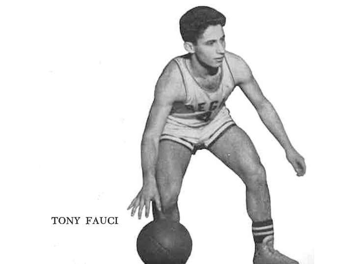 Tony Fauci - Captain of the 1958 Regis High School Boys Basketball