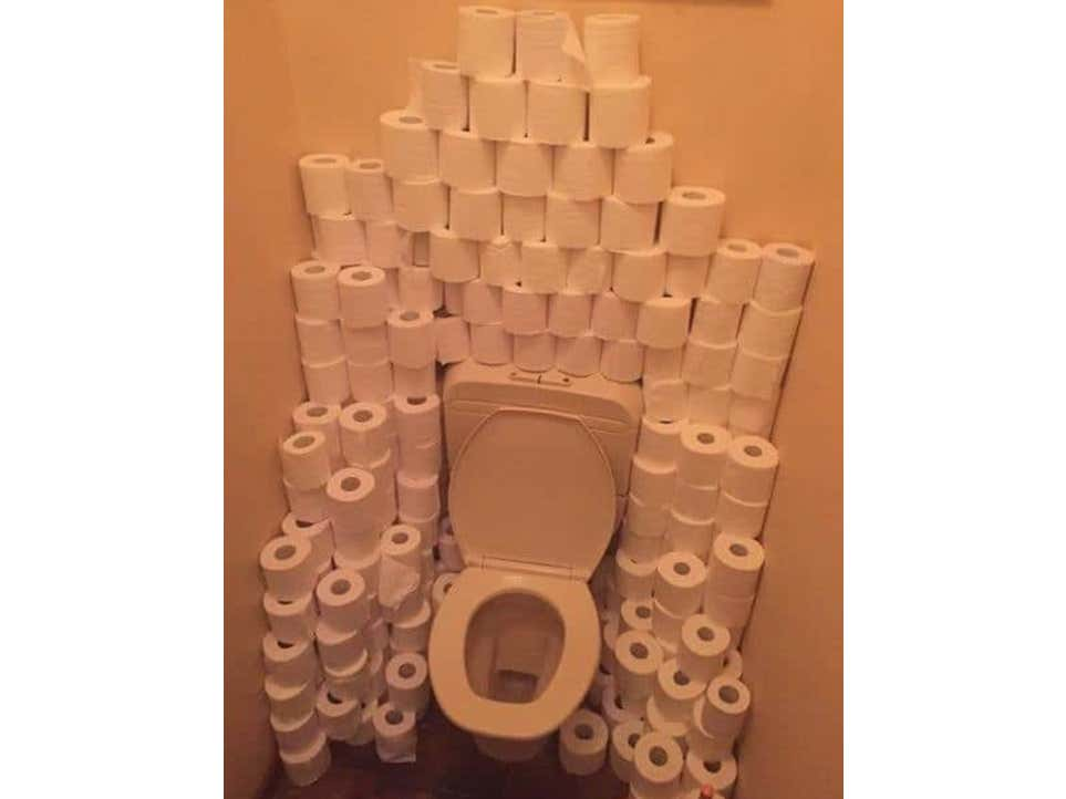 Dropping A Full Roll Of Toilet Paper In The Bowl Lead To A Disaster