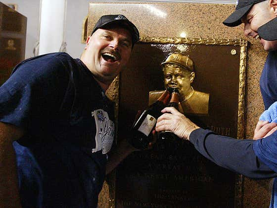 Wake Up With David Wells Wearing Babe Ruth's Hat During A Game