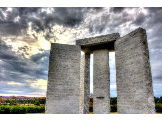 Not To Go All Tin Foil Hat On Everyone, But Now Might Be an Appropriate Time To Discuss The Georgia Guidestones AKA America's Stonehenge