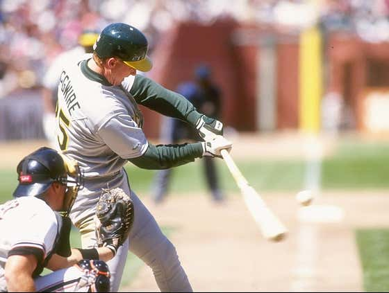 Wake Up With Mark McGwire Almost Putting A Hole In Cleveland's Scoreboard