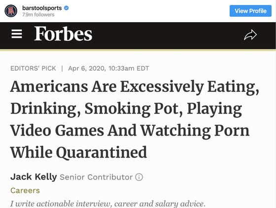 Americans Are Excessively Dieting, Abstaining From Substances, Reading Books And Watching Documentaries While Quarantined