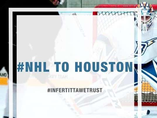 """""""NHL To Houston"""" Is Trending On Twitter, And Whoever Started It Can Go Fuck Themselves"""