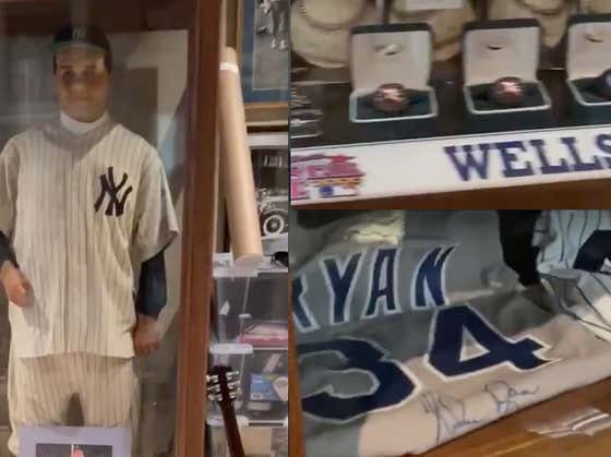 David Wells' Man Cave Is Pretty Much The Baseball Hall of Fame And It's Spectacular