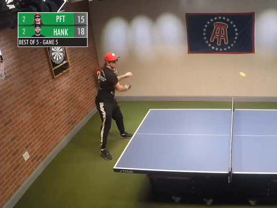 STOOL STREAMS: Hank Edges PFT in Best-of-Five Table Tennis Showdown