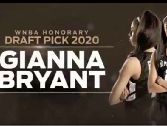 'The WNBA Selects Gianna Bryant' - Watch The WNBA Make GiGi And Her Teammates Alyssa Altobelli And Payton Chester Honorary Draft Picks